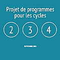Cycles 2 3 4 : programmes 2015