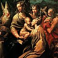 Parmigianino (girolamo francesco maria mazzola) (italian, 1503-1540), madonna of santa margherita, c. 1529-1530