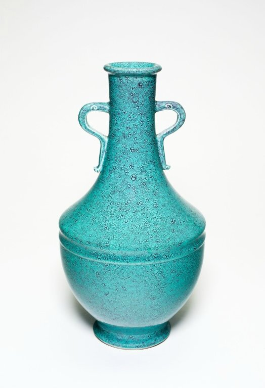 Baluster-Shaped Vase with Loop Handles, Qing dynasty (1644-1911), Qianlong reign mark and period (1736-1795)