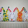 Paniers lapin de paques faciles à réaliser, gabarit en pièce jointe.