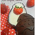 Mousse chocolat blanc en coque chocolat noir