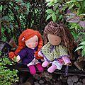 Shrug et poncho pour poupées
