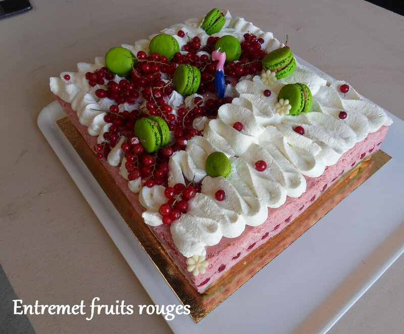 Entremet fruits rouges1
