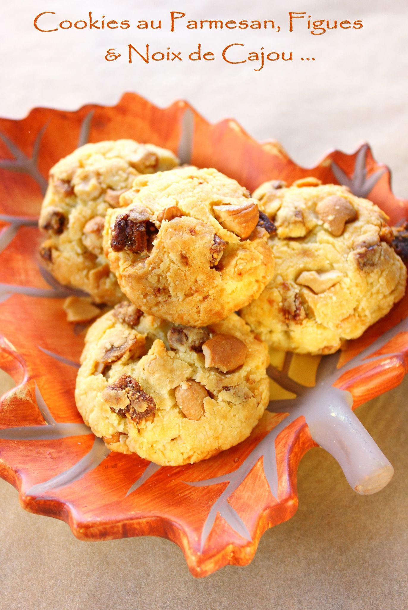 Cookies parmesan, figues et noux de cajou couverture