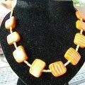 collier fimo orange