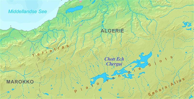 Chott_Ech_Chergui_kaart