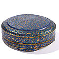 A rare gold and silver foil-decorated enamel circular food box and cover, qing dynasty, qianlong period (1736-1795)