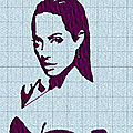 Broderie machine : portrait angelina et brad