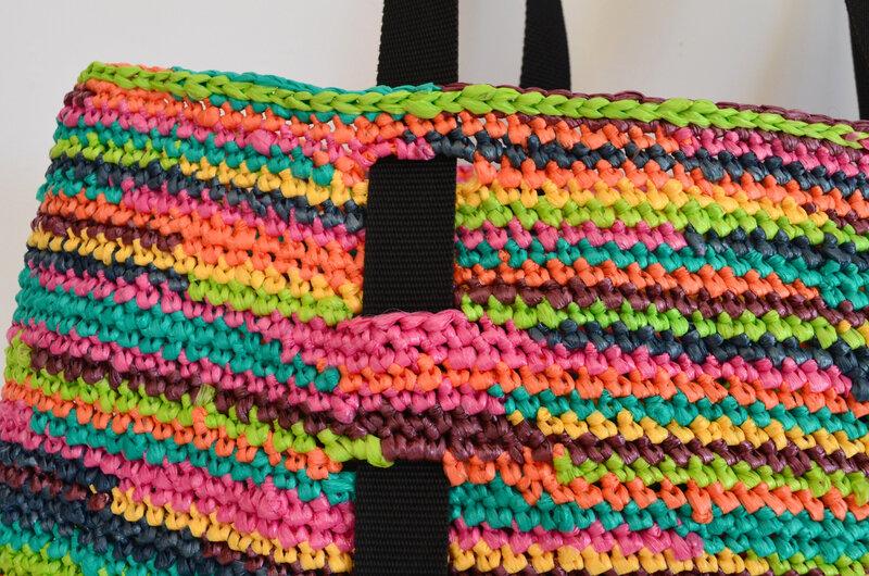 Cabas en sacs plastique recyclés-DIY-crochet- récup-upcycling-tote bag-La chouette bricole (11)