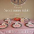 Bavarois aux fraises pour la fête des mères et sa sweet girly mommy table