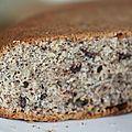 Gâteau aux noisettes et pépites de chocolat.