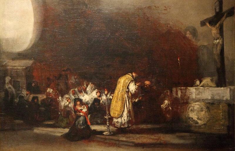 Attribué-à-Francisco-José-de-Goya-y-Lucientes-La-Messe-des-relevailles-autour-de-1819-©-Musée-des-Beaux-Arts-d'Agen-1200x776