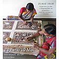 Exposition vente de toiles indiennes kalamkaris