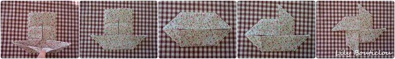 DIY cadre cercle à broder origami en tissu lilybouticlou