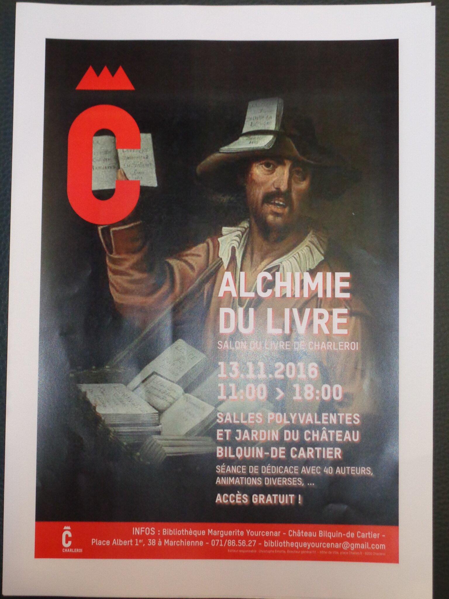 Séance de dédicace au Salon du livre de Charleroi le dimanche 13 novembre 2016