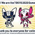 Tokyo présente les mascottes des jeux olympiques de 2020
