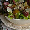 Salade de magret de canard aux mirabelles