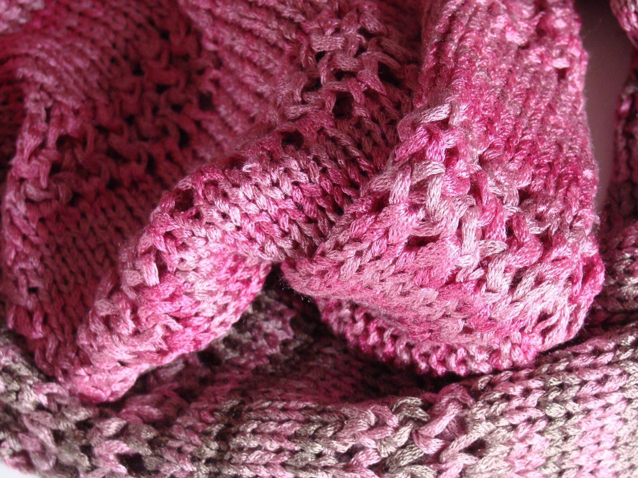 Echarpe tube en soie