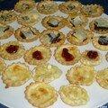 Palmiers aux olives et tomates séchées + mini tartelettes