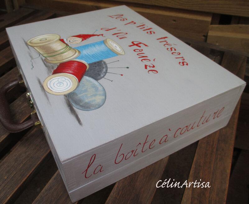 """Boîte à couture """"Lutin & bobines"""""""