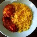 casserons farcis et son riz safrané