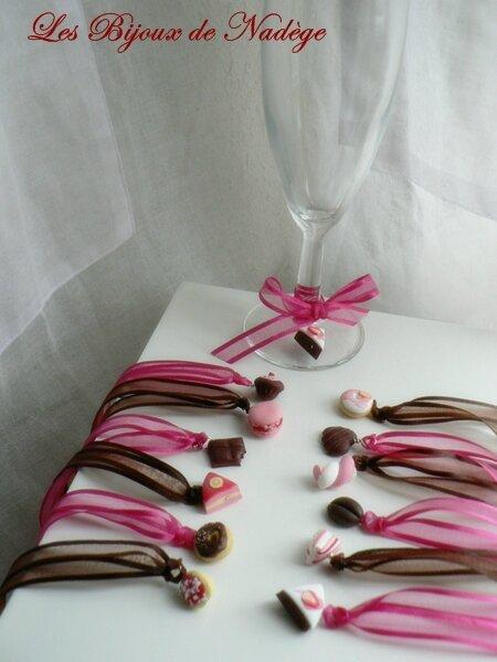 bijoux et d co gourmande pour un mariage tout en framboise chocolat les bijoux de nad ge. Black Bedroom Furniture Sets. Home Design Ideas