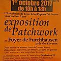 Exposition de patchwork à furchhausen près de saverne