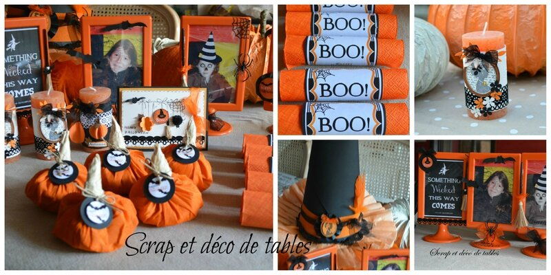decorations pour ma table d 39 halloween scrap et d co de tables. Black Bedroom Furniture Sets. Home Design Ideas