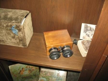 Canterburry museum à Christchurch - jumelles en bois