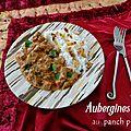Aubergines au panch phoron