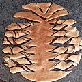 Galette des rois bretonne sablée forme <b>ananas</b>