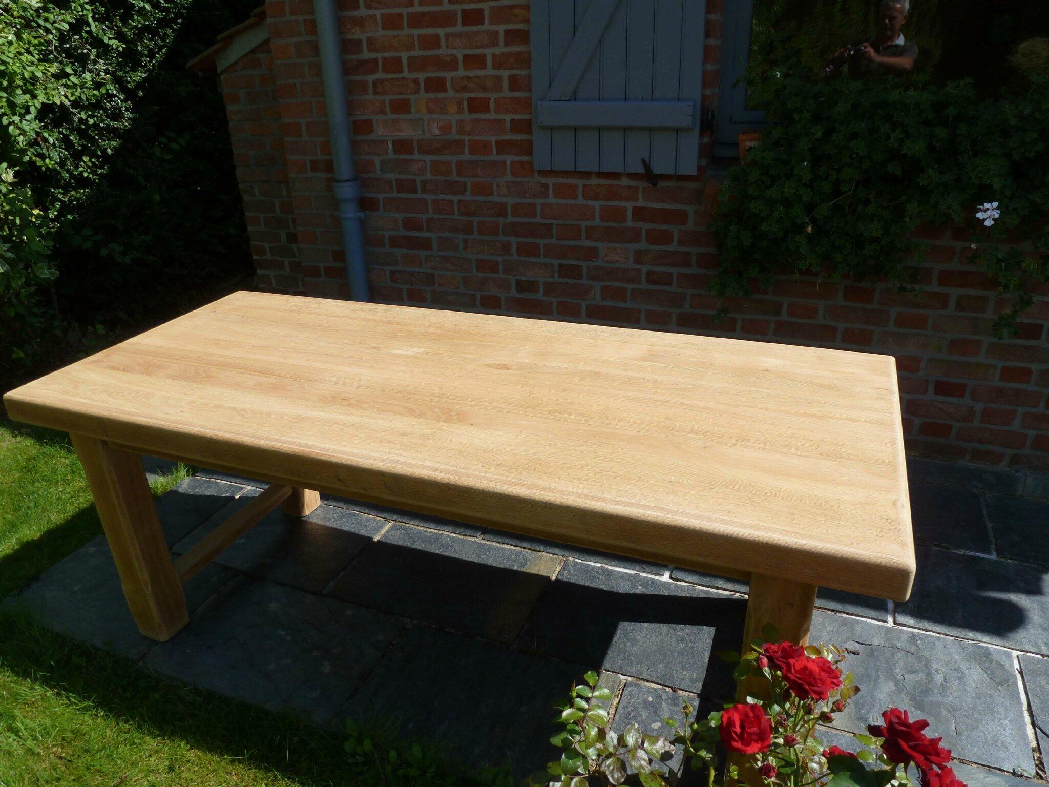 Table En Bois Chene Clair eclaircir une table en chêne - patines & couleurs