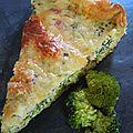 Tarte brocoli-jambon-chèvre