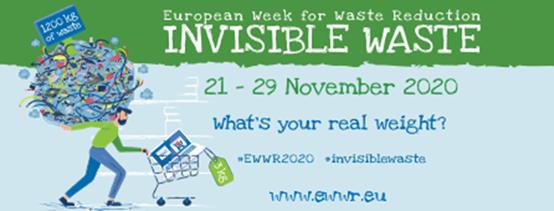 Ευρωπαϊκή εβδομάδα για την μείωση των απορριμμάτων 21-29 Νοεμβρίου 2020, συμμετοχές έως 26/11/20 24.00
