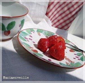Assiettes aux fruits rouges