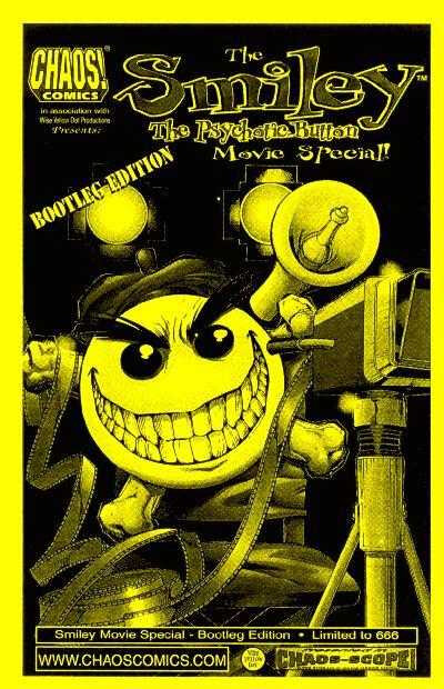 chaos comics smiley the psychotic button movie special