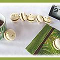 Macarons pistache - framboise