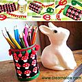 ¨°o.o ✄ diy pot à crayons tissu / diy pencil cup ✄ o.o°¨