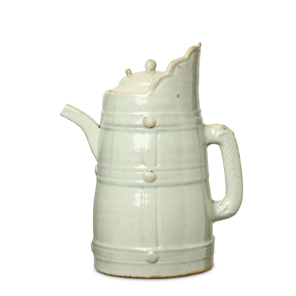 A Chinese Qingbai ewer and cover, Yuan dynasty (1279-1368)