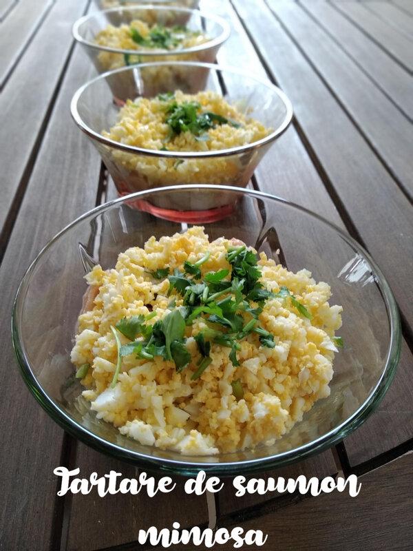 tartare de saumon mimosa