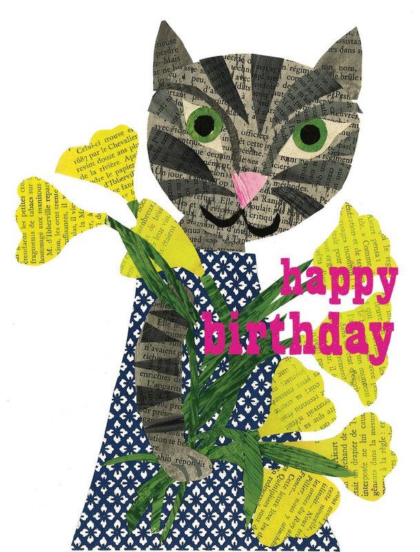 happy_birthday_cat_yellow_flowers