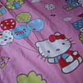 Une couette hello kitty