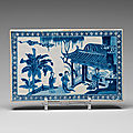 A blue and white screen tile, qing dynasty, kangxi (1662-1722)