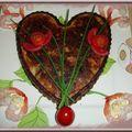 Coeur de thon, saumon et crevettes