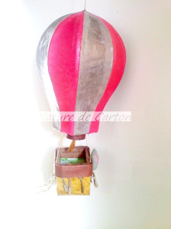 Montgolfières Rose argent