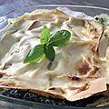 Lasagnes chèvre épinards