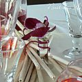 décoration de table exotique