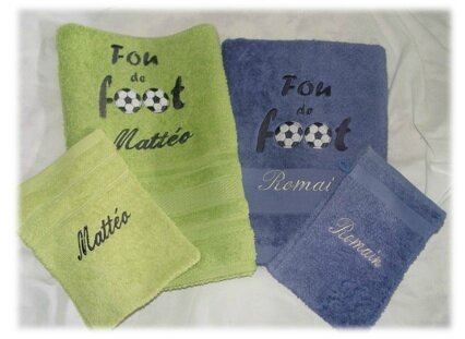 Serviette fou de foot