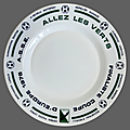 Collection ... assiette allez les verts * football