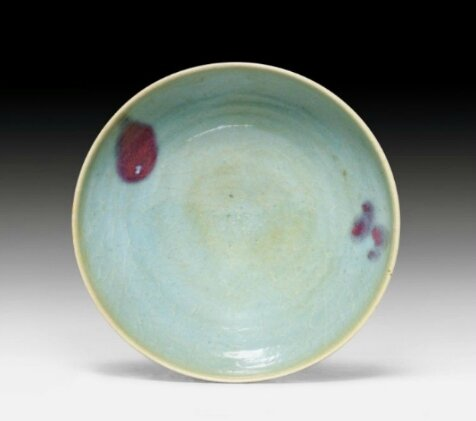 A large Junyao-bowl with purple splashs at the inside, China, Yuan dynasty